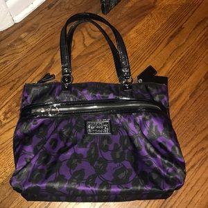 Coach purse bag sparkle/purple/black/cheetah